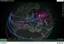La nouvelle carte de cyberguerre de Kaspersky en 3D