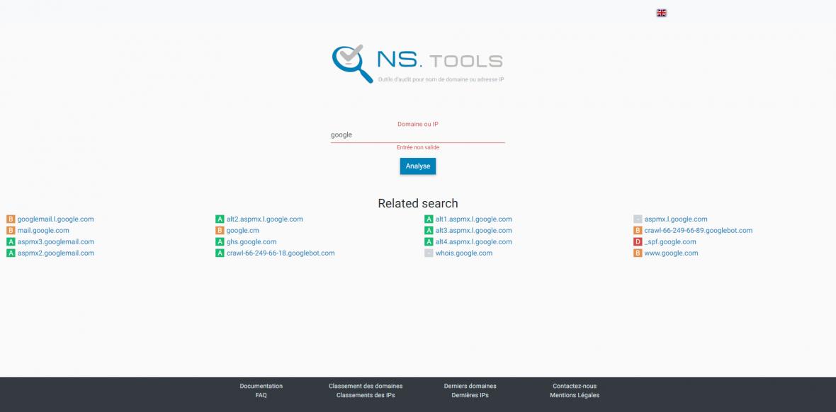 NStools : l'outil d'analyse d'IP et de nom de domaine